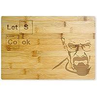 mikamax - Let's Cook - Breaking Bad - 25 x 1.5 x 38 centimeters - Tagliere - Bamboo - Lama amichevole