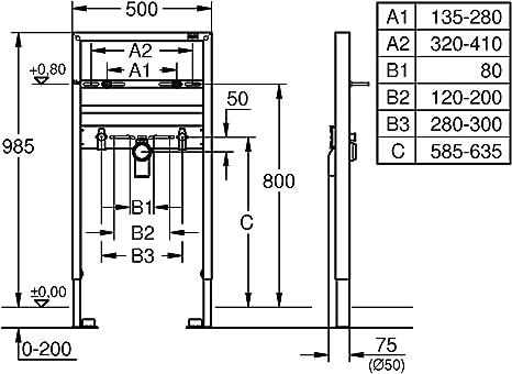 GROHE Structure pour Lavabo Rapid SL 38541000 Import Allemagne