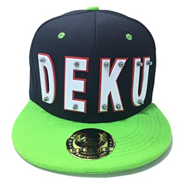 PANDAHAT Deku HAT in Black with Green Brim (White Letter with RED ... b50fd20453b