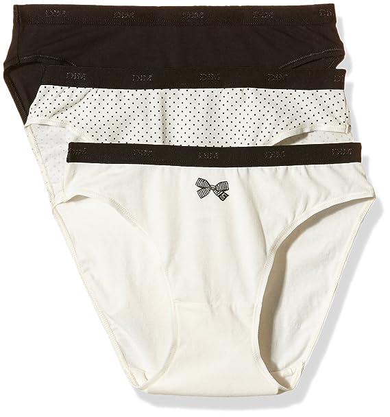Dim Pockets Coton Slip x3 - Braguita para Mujer, Lot nœud Noir, 36/