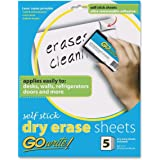 "GoWrite! Dry Erase Self-Adhesive Sheets, 8.5""x11"", 5 Sheets (AS8511)"