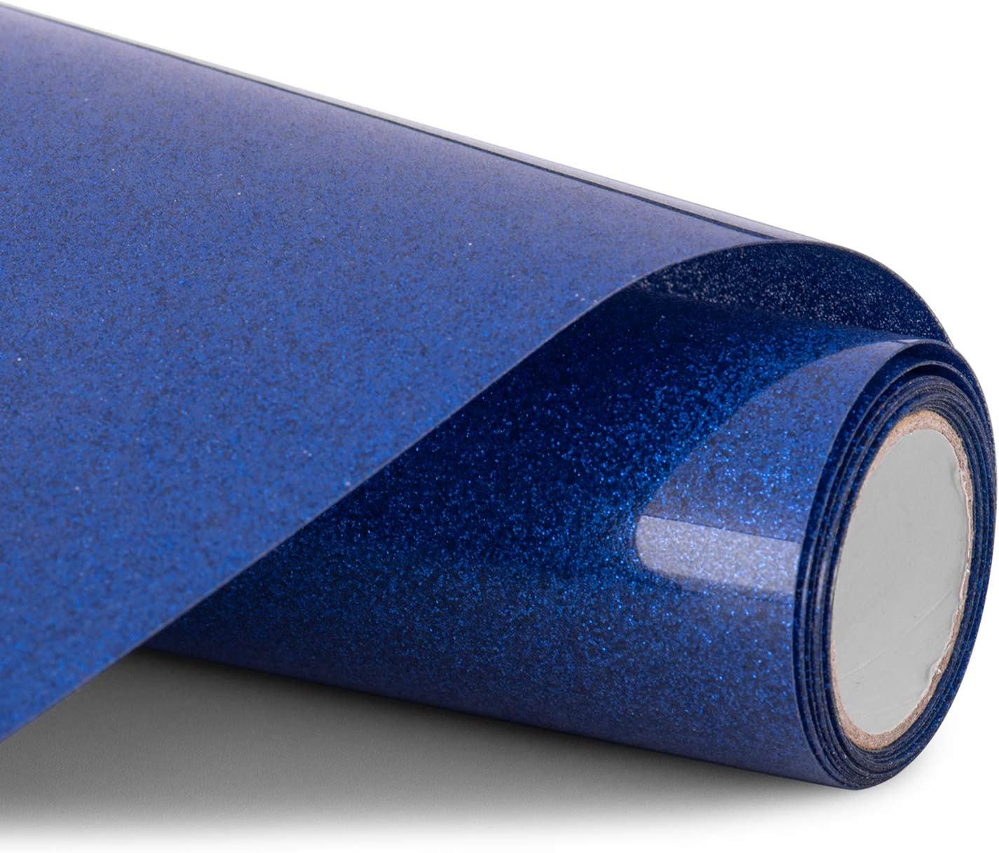 Glitter HTV Vinyl - 12inch x 5ft PU Heat Transfer Vinyl roll for Silhouette Cameo & Cricut Easy to Cut, Weed and Transfer, Iron On Htv Vinyl Design for T-Shirt, Clothes and Other Textiles(Blue)