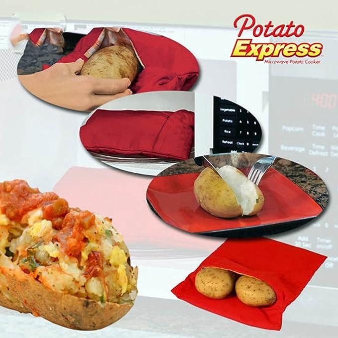 Amazon.com: EXPRESS de patata Microondas Baked – Bolsa para ...