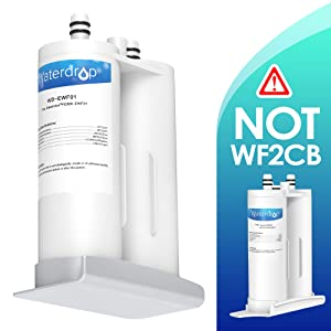 Waterdrop Refrigerator Water Filter, Compatible with EWF01, FC-300, FC300, EFF-6018A, 241988703