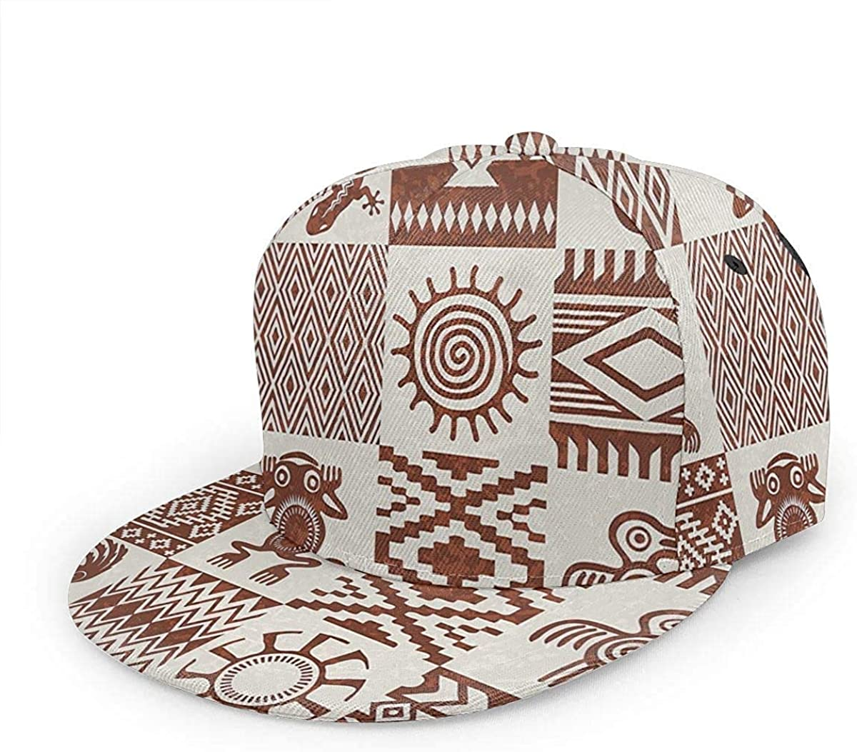 Southwestern Frames with Ethnic Redwood and Eggshell Lightweight Unisex Baseball Caps Adjustable Breathable Sun Hat for Sport Outdoor Black