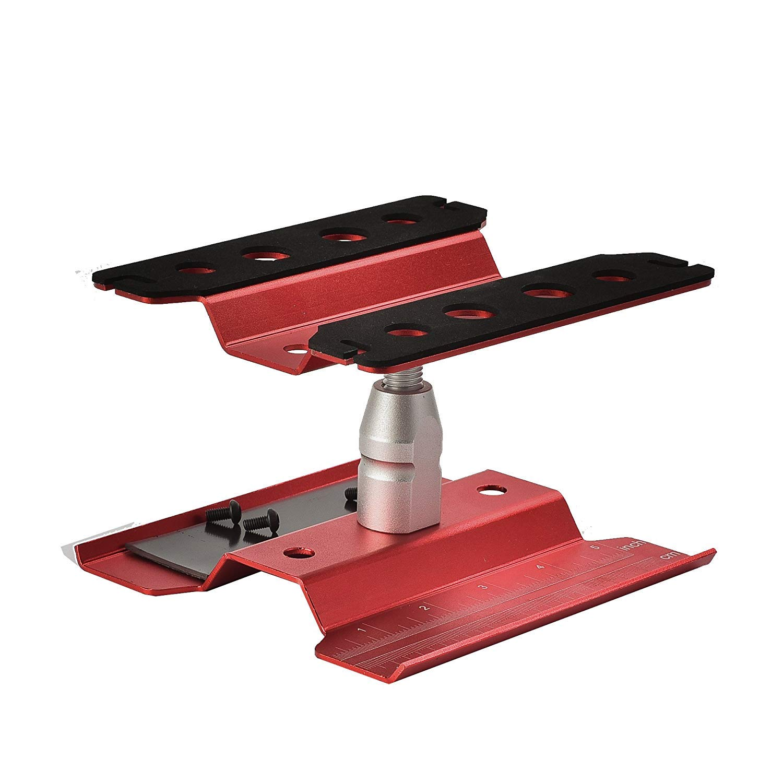 Binchil Support de Travail de Poste de Travail de Voiture en Aluminium Rc en M/étal R/éparation de Rotation /à 360 Degr/és pour Mod/èle /à L/échelle 1//8 1//10 Rouge