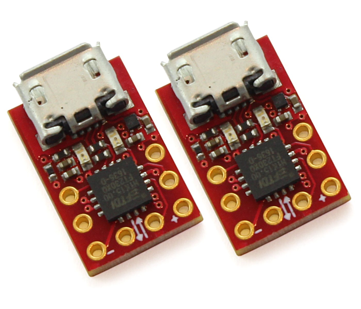 Micro1v8 (2-Pack) - USB to 1.8V Serial Adapter with LEDs - FTDI FT230X chip