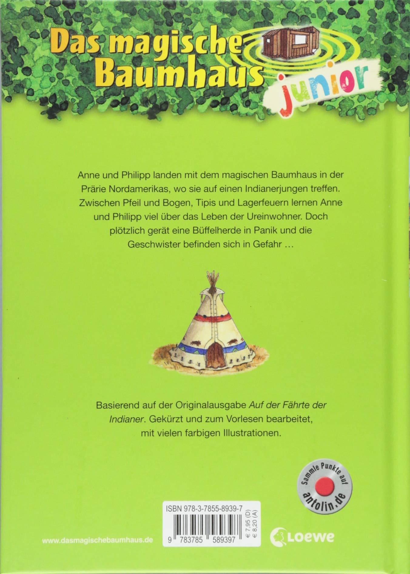 Das Magische Baumhaus Junior   Auf Dem Pfad Der Indianer: Amazon.de: Mary  Pope Osborne, Jutta Knipping, Sabine Rahn: Bücher