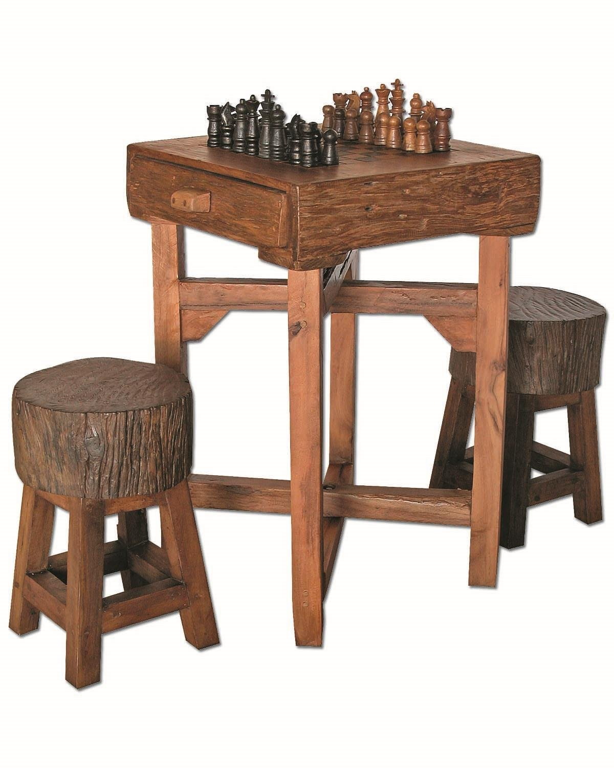 GROOVYSTUFF TF-0538-S Hill Country Chess Table