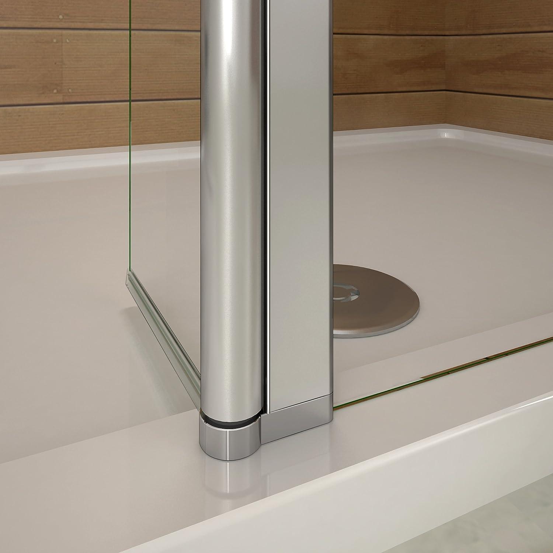 Mampara de douche200 cm con un contraventana retorno en 30 cm mampara de ducha a la italiana con una barra de fijación extensible: Amazon.es: Bricolaje y herramientas