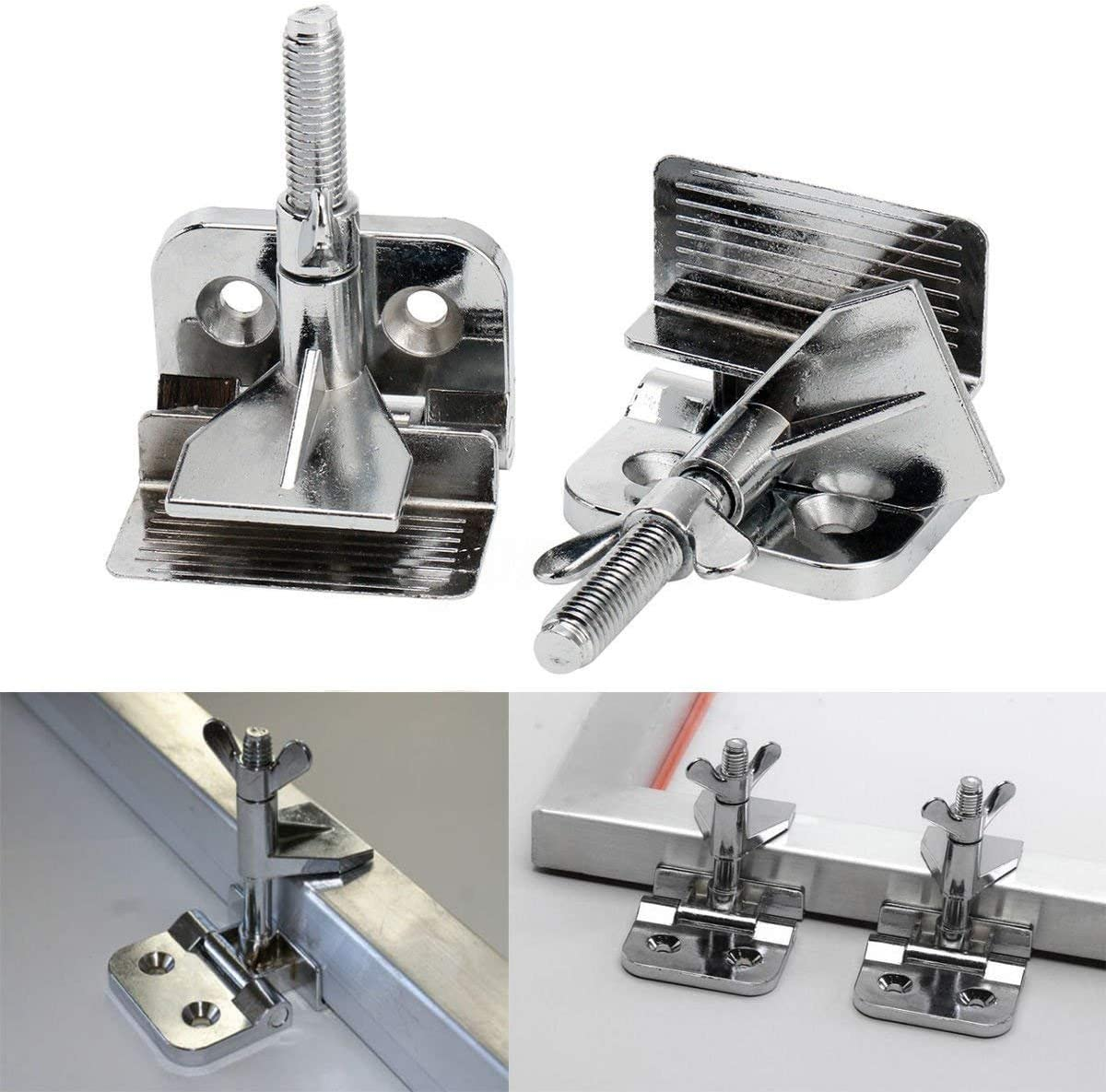 INTBUYING 2 pc of Screen Frame Butterfly Hinge Clamp for Silk Screen Printing Sturdy Quality