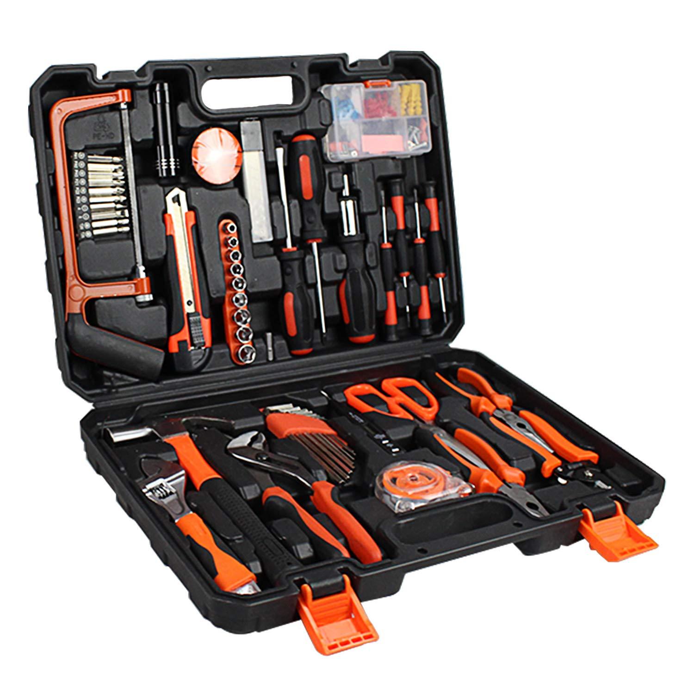 Sotech 114 piezas Juegos de Herramientas con Almacenamiento Pl/ástico Herramientas Manuales para Reparaciones Bricolaje Kit de Casa