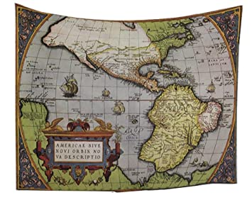 Antique map tapestry wall hanging wanderlust decor tapestry old antique map tapestry wall hanging wanderlust decor tapestry old world map drawn in 1720s nostalgic gumiabroncs Images