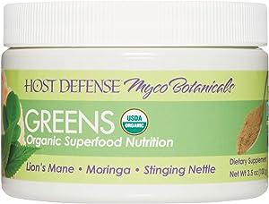 Host Defense, MycoBotanicals Greens Powder, Immune Support Superfood Mushroom Mycelium, 3.5 Oz