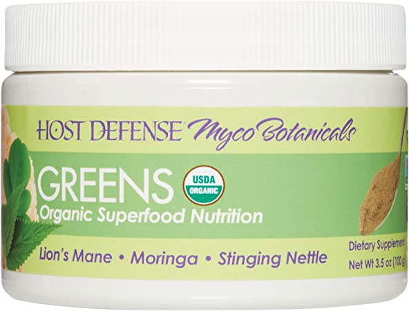 Host Defense, MycoBotanicals Greens Powder, Immune Support Superfood Mushroom Mycelium