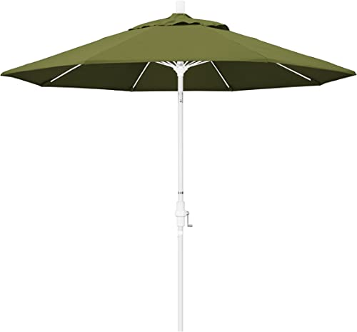 California Umbrella GSCUF908170-SA21 9 Round Aluminum Pole Fiberglass Rib Market Patio Umbrella, Palm