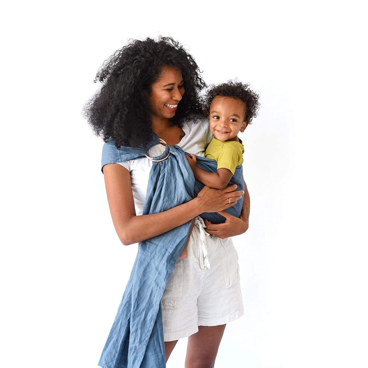 Kyte BABY Ring Slings Made from 100/% Pre-Washed Linen 80 Inches Long Banyan