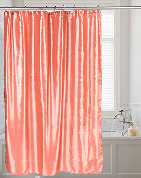 Shimmer Faux Silk 100 Polyester Shower Curtain 70quot Wide X 72quot