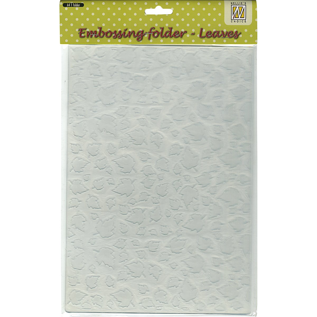 Ecstasy Crafts Nellie's Choice A4 Embossing Folder-Leaves, 8.25 by 11.875-Inch by Ecstasy Crafts
