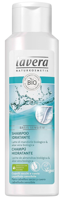 Lavera Champú Hidratante - Leche de almendras biológica & áloe vera biológica - vegano - cosméticos naturales 100% certificados - cuidado del cabello - 6 ...