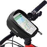 Redlemon Bolsa para Bicicleta Impermeable, Compartimento para Celular y Accesorios, Cubierta Táctil Ultrasensible, Ranura par