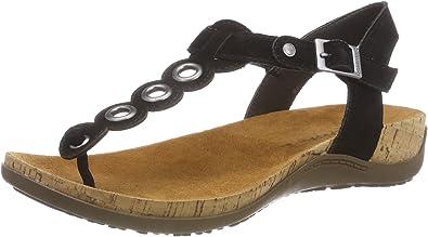 BEARPAW Women's T-Bar Sandals, Black