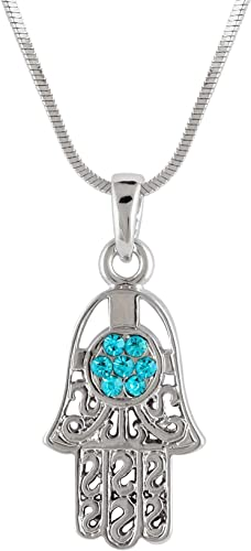 Hamsa  Necklace  Turquoise Hamsa Necklace  sterling silver  Hamsa  Kabbalah Jewelry  Protection Necklace  Yoga Jewelry