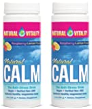 Natural Vitality Natural Magnesium Calm, Raspberry Lemon (2 Bottles of 8 Ounce)
