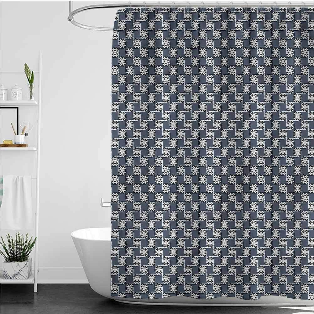 Interestlee Japanese Beach Shower Curtain Japanese Ornate Waterproof Summer Bath Decor, 60 x 72 Inch
