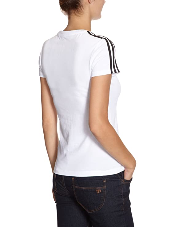 Adidas - Camiseta para mujer, tamaño Taille XXS, color blanco/negro: Amazon.es: Ropa y accesorios