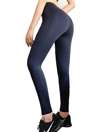1193b8e02 Vaslanda Women High Waist Athletics Activewear Leggings Booty Scrunch Yoga  Pants Workout with Pocket Butt Enhancing