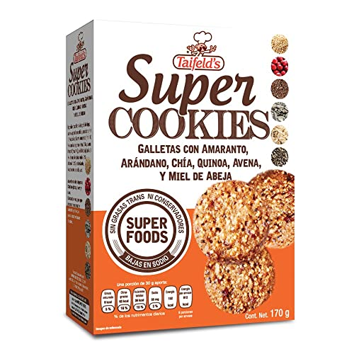 Taifelds Super Healthy Cookies with Quinoa, Amaranth, Oats, Cranberries, Sunflower Seeds &