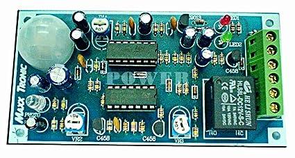 Amazon.com: Sensor de movimiento PIR circuito de luz ...