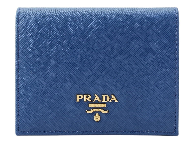 (プラダ) PRADA 財布 二つ折り レザー 1MV204 [並行輸入品] B07B9X1169AZZURRO