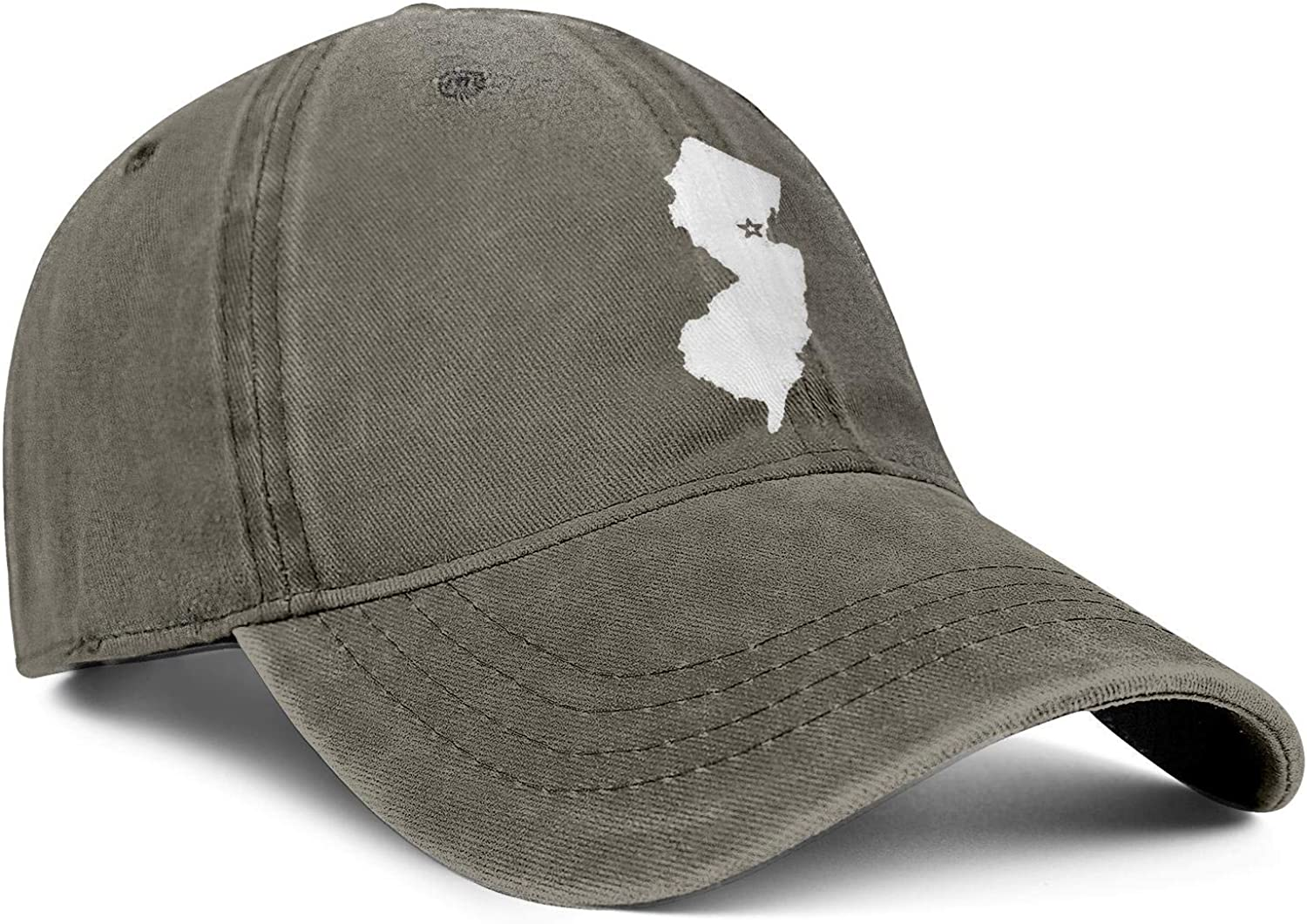 akndhys Unisex Low Wash Cloth Dad Hat Adjustable New Jersey The Great Garden State Beach Baseball Hat