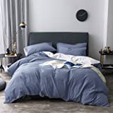 Merryfeel 100% Cotton Woven Seersucker Stripe Duvet Cover - King