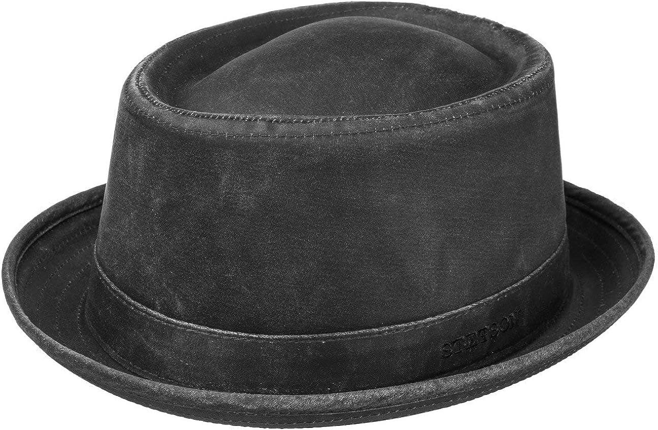 Stetson Pork Pie Odenton Sombrero para Mujer/Hombre - Porkpie de algodón - Fedora Impermeable y con protección Solar - Sombrero de Hombre para Verano/Invierno - Sombrero de