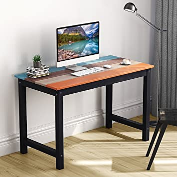 writing desk tribesigns solid wood computer desk with fourcolor finish 47u0026quot