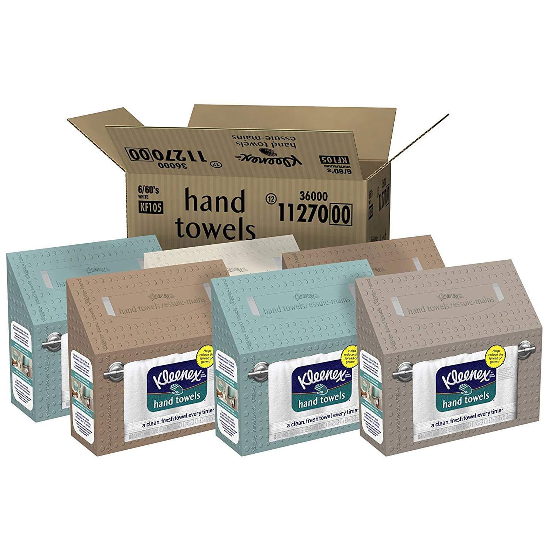 Kleenex ホワイトハンドタオル (6箱) B07NNYSBSF  Premium pack