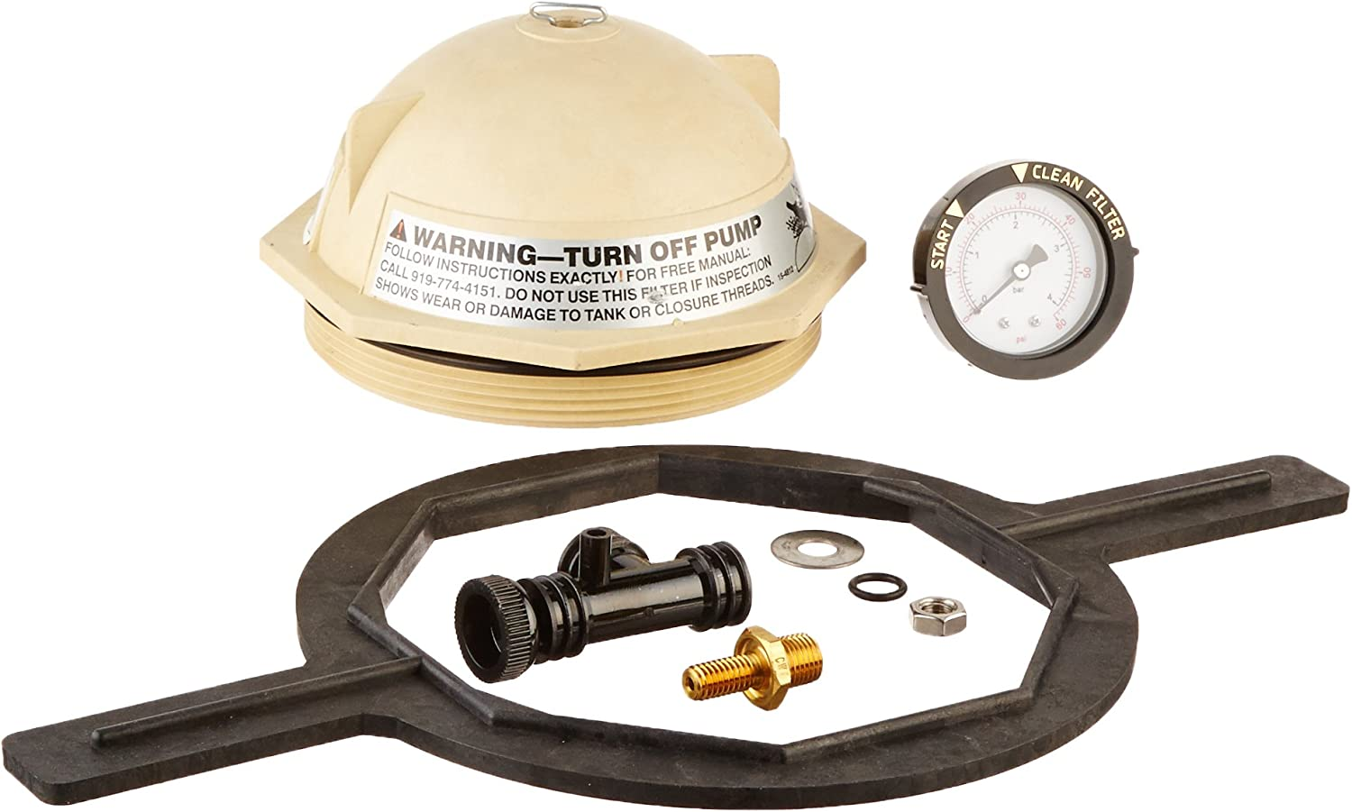 Pentair 154697 Tan V Thread Closure Replacement Kit Triton II Pool and Spa Sand Filter