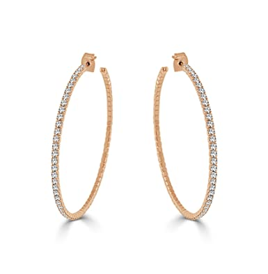 Image Unavailable. Image not available for. Color  Sabrina Designs  Lightweight Crystal 14K Gold Plated Hoop Earring b90bd0444b26