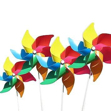 4 Por Paquete Molinos De Viento De Colores Como Regalos Para Que