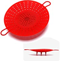 Silicone Vegetable and Food Steamer Basket,Good Grips Silicone Steamer for Instant Pot-8.5 in,Red