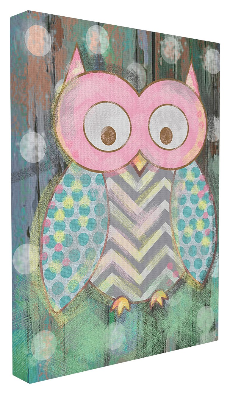 The Kids Room by Stupell Distressed Woodland Owl Wall Plaque Art, 30 x 40 by The Kids Room by Stupell