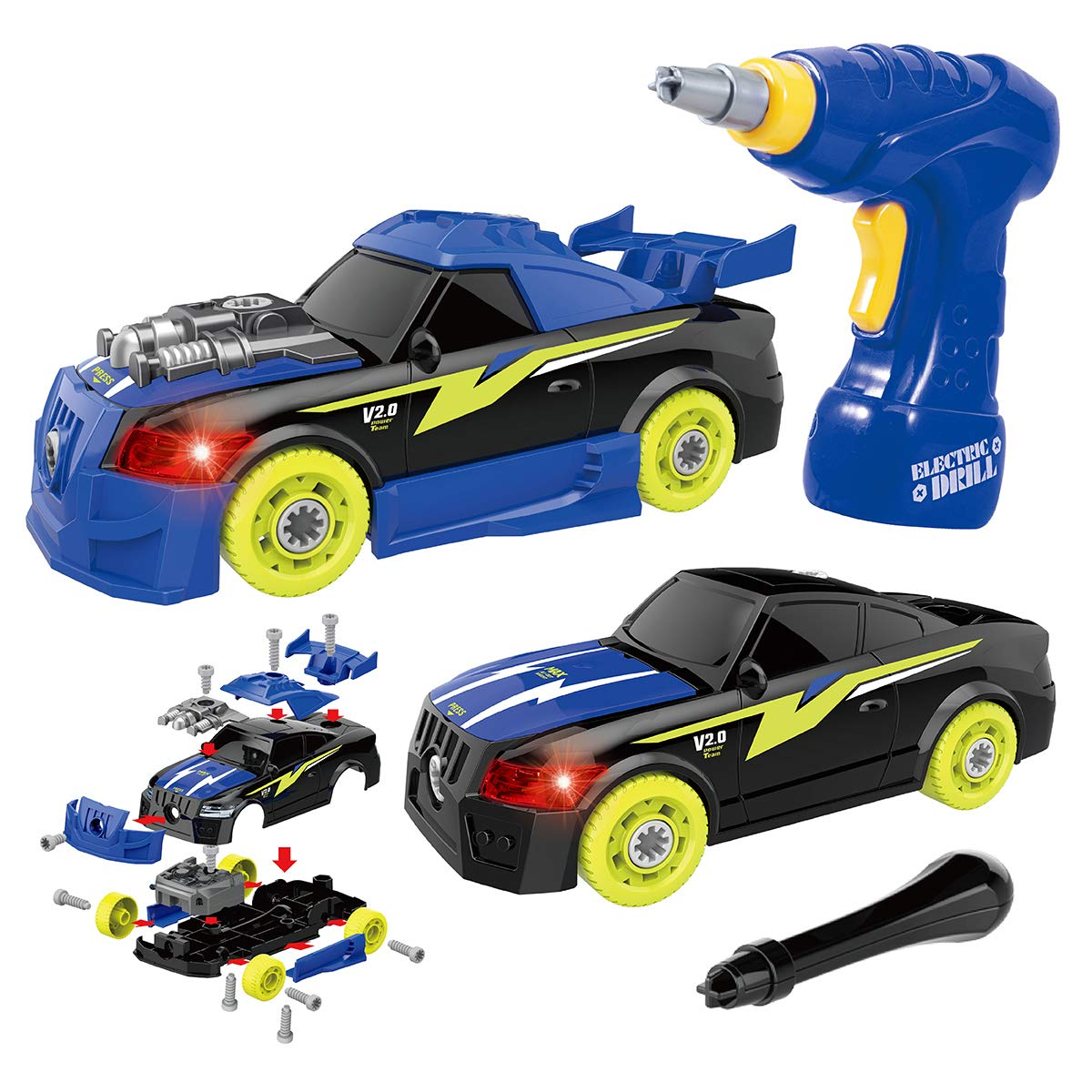 Build Your Car >> Maxxrace Diy Take Apart Toy Racing Car 2 In 1 Build Your Own Car