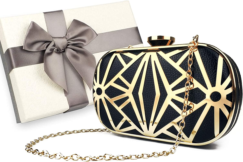 zebrum Bolso de embrague de noche para mujer Bolso de noche de diseñador, monedero de embrague Lady Party, excelente opción de regalo