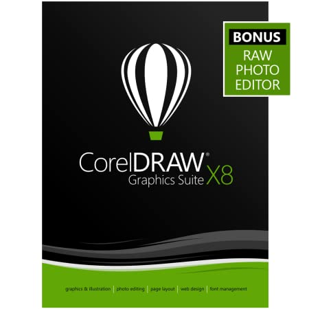 CorelDRAW Graphics Suite X8 - Amazon Exclusive - Includes RAW Photo Editor [Download]