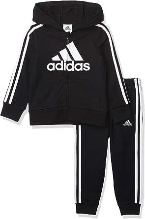 adidas Boys' Essntls Ft Hooded JKT Set