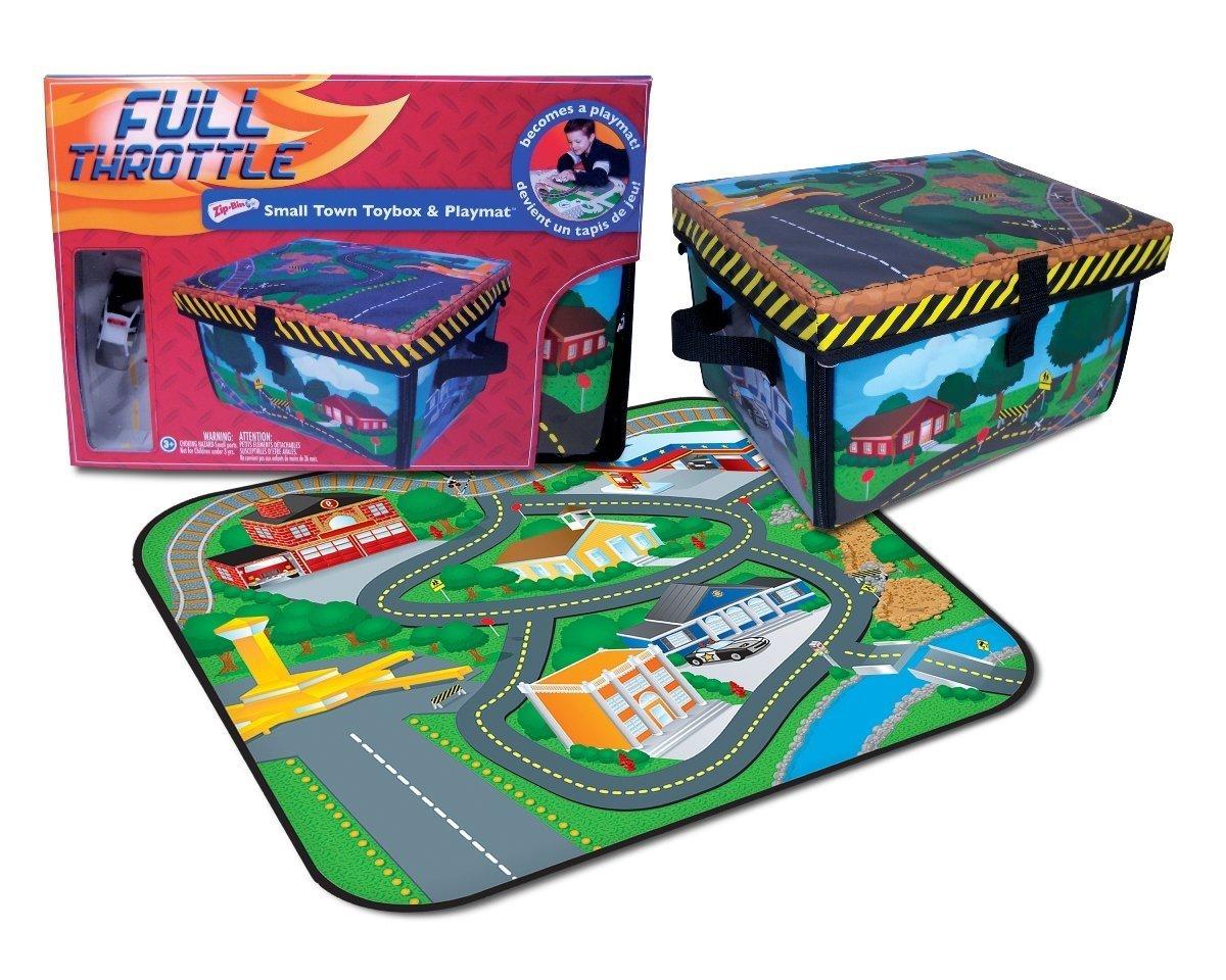 Amazon.com Neat-Oh! ZipBin Full Throttle Small Town 220 Car Toy Box u0026 Playset w/ 1 Car Toys u0026 Games  sc 1 st  Amazon.com & Amazon.com: Neat-Oh! ZipBin Full Throttle Small Town 220 Car Toy Box ...