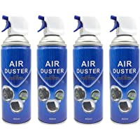 Air Duster Compressed Cleaner Spray Laptop PC Keyboard Camera Lens 2/4 Pack (4 Pack-Blue)